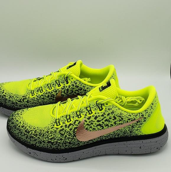 Jugar con barco Aproximación  Nike Shoes | Free Rn Distance Shield Volt Black Size 115 | Poshmark